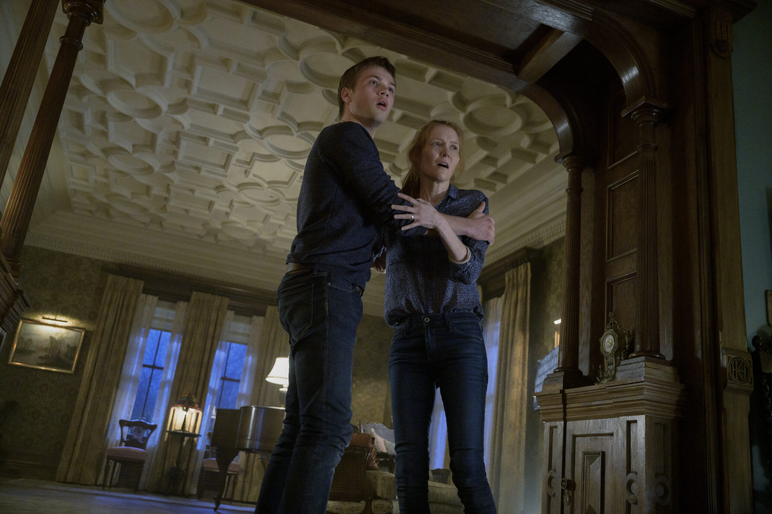 Connor Jessup as Tyler, Darby Stanchfield as Nina in Locke and Key