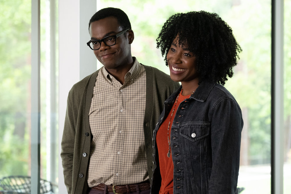 William Jackson Harper and Kirby Howell-Baptiste in The Good Place