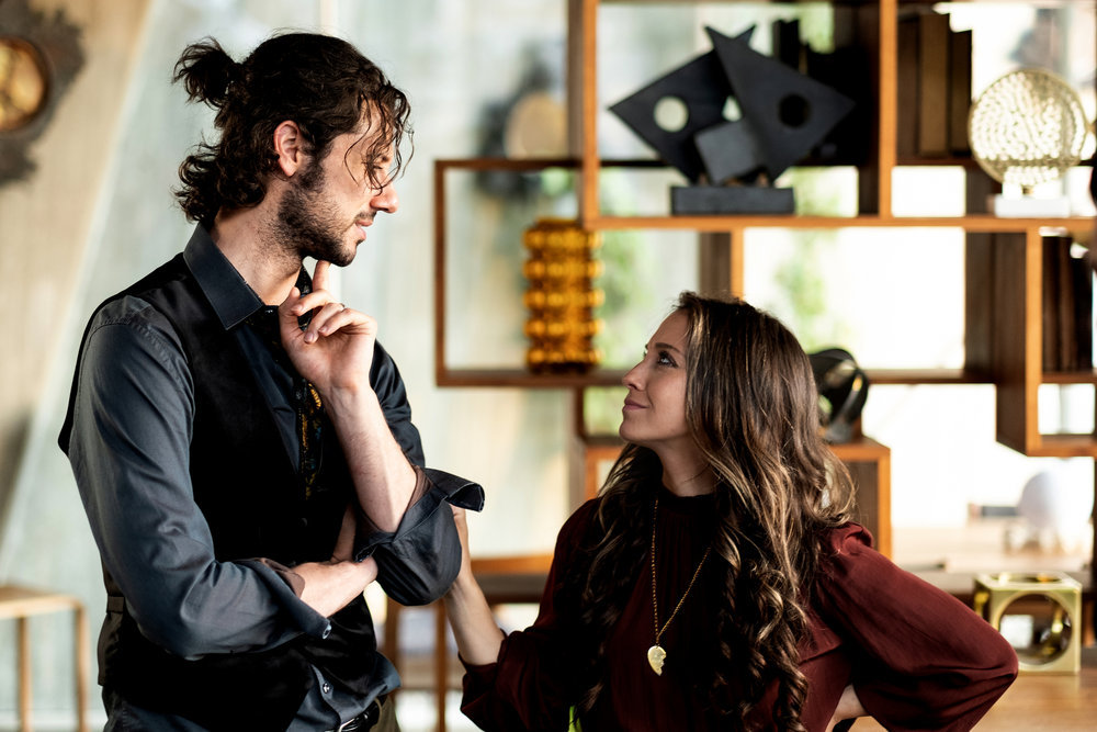 Hale Appleman and Stella Maeve in The Magicians.