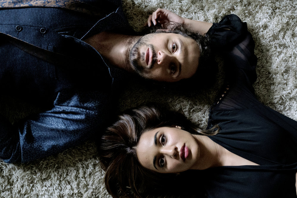 Hale Appleman as Eliot Waugh and Summer Bishil as Margo Hanson in The Magicians.