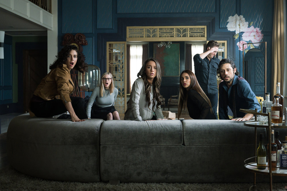 Jade Tailor, Olivia Taylor Dudley, Stella Maeve, Summer Bishil, and Hale Appleman in The Magicians.