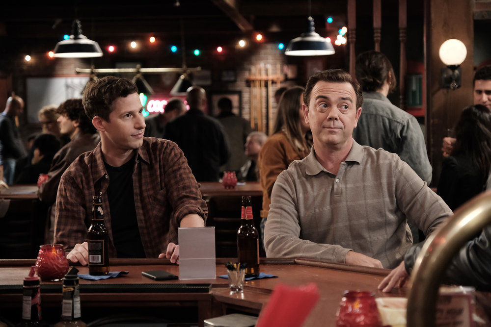 Andy Samberg and Joe Lo Truglio in Brooklyn Nine-Nine.