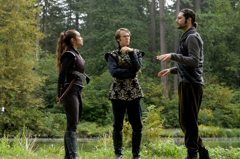 Summer Bishil, Spencer Daniels and Hale Appleman in The Magicians
