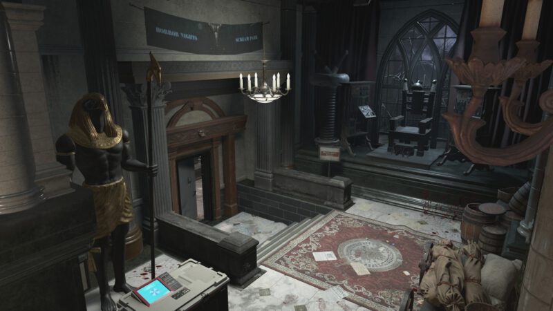 Abandoned park map in Resident Evil Resistance.