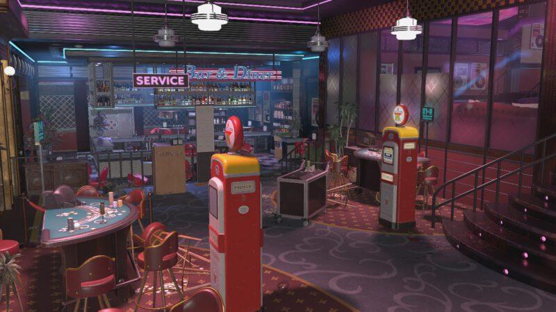 Casino map for Resident Evil Resistance.