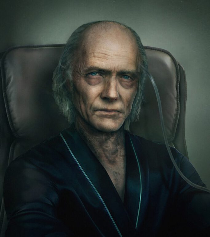 Portrait of Mastermind Ozwell Spencer from Resident Evil Resistance.
