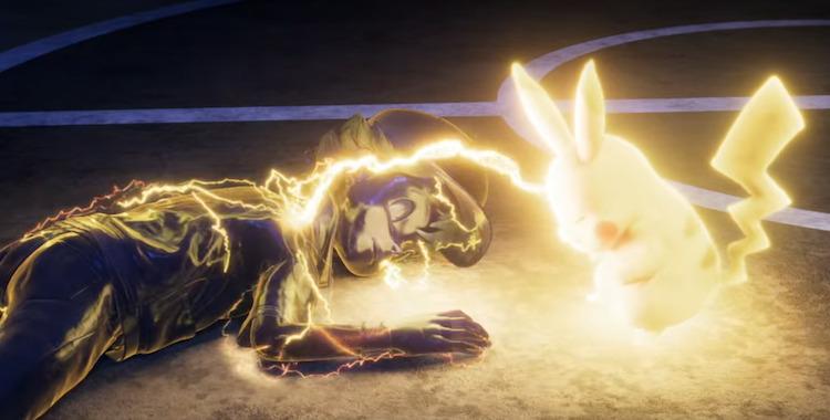Pokémon: Mewtwo Strikes Back - Evolution scene where Pikachu is shocking Ash.