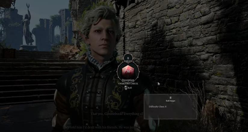 Skill checks in Baldur's Gate III