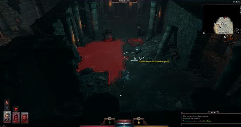 Using stealth in Baldur's Gate III
