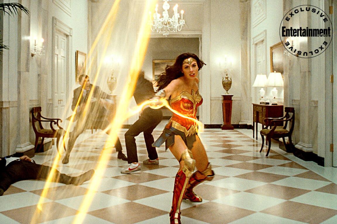Still of Gal Gadot in Wonder Woman 1984.
