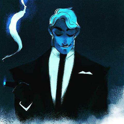 Hades from Webtoon Lore Olympus