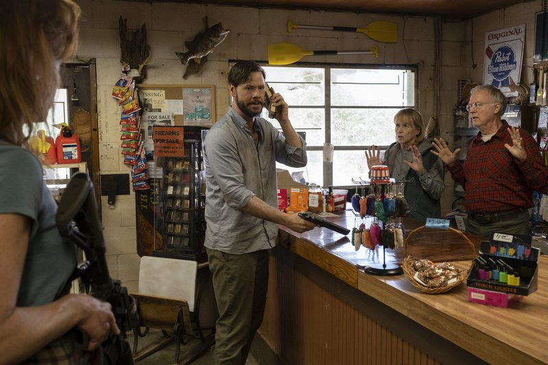 Kate Nowlin, Ike Barinholtz, Amy Madigan, Reed Birney in THE HUNT