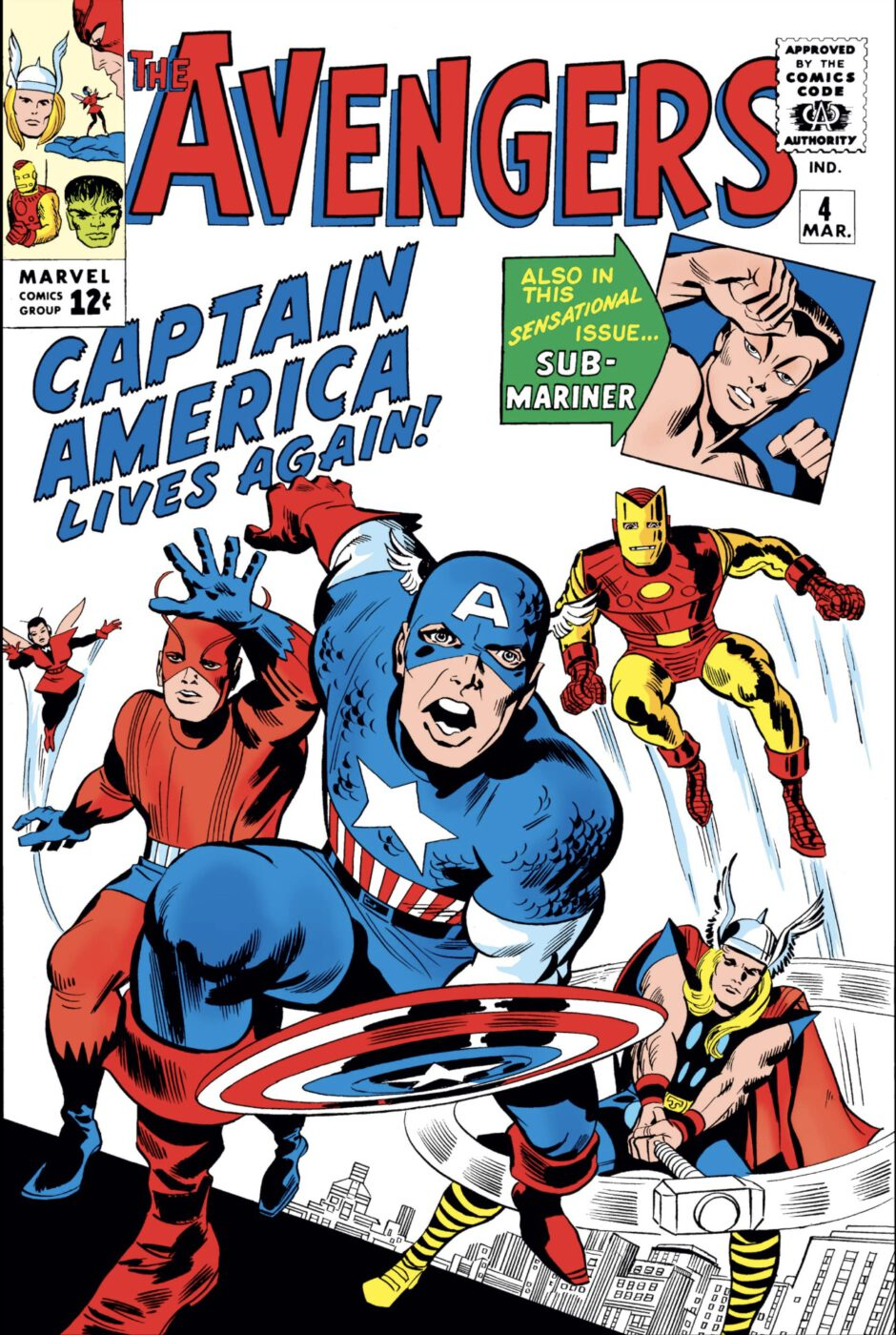 Avengers captain america lives again comic cover