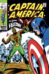The first cover with The Falcon / Sam Wilson