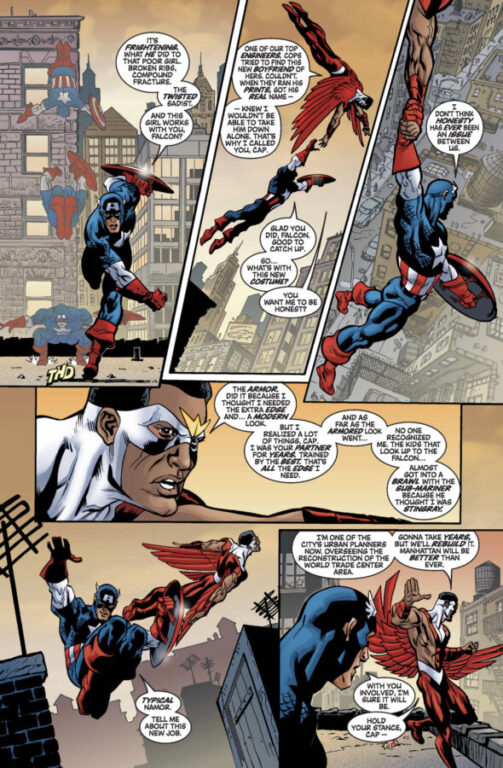 captain america and falcon comic panel