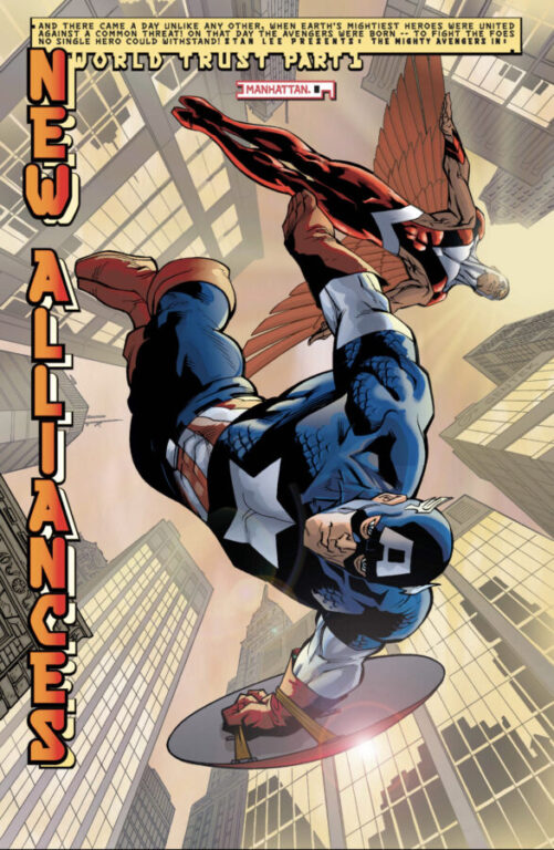 Comic Panel - Captain America New Alliances