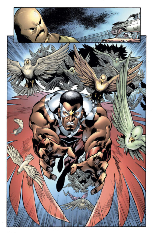 comic panel - the falcon and Marvel's Scarecrow