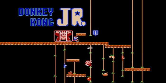 The opening scene for Donkey Kong Jr.