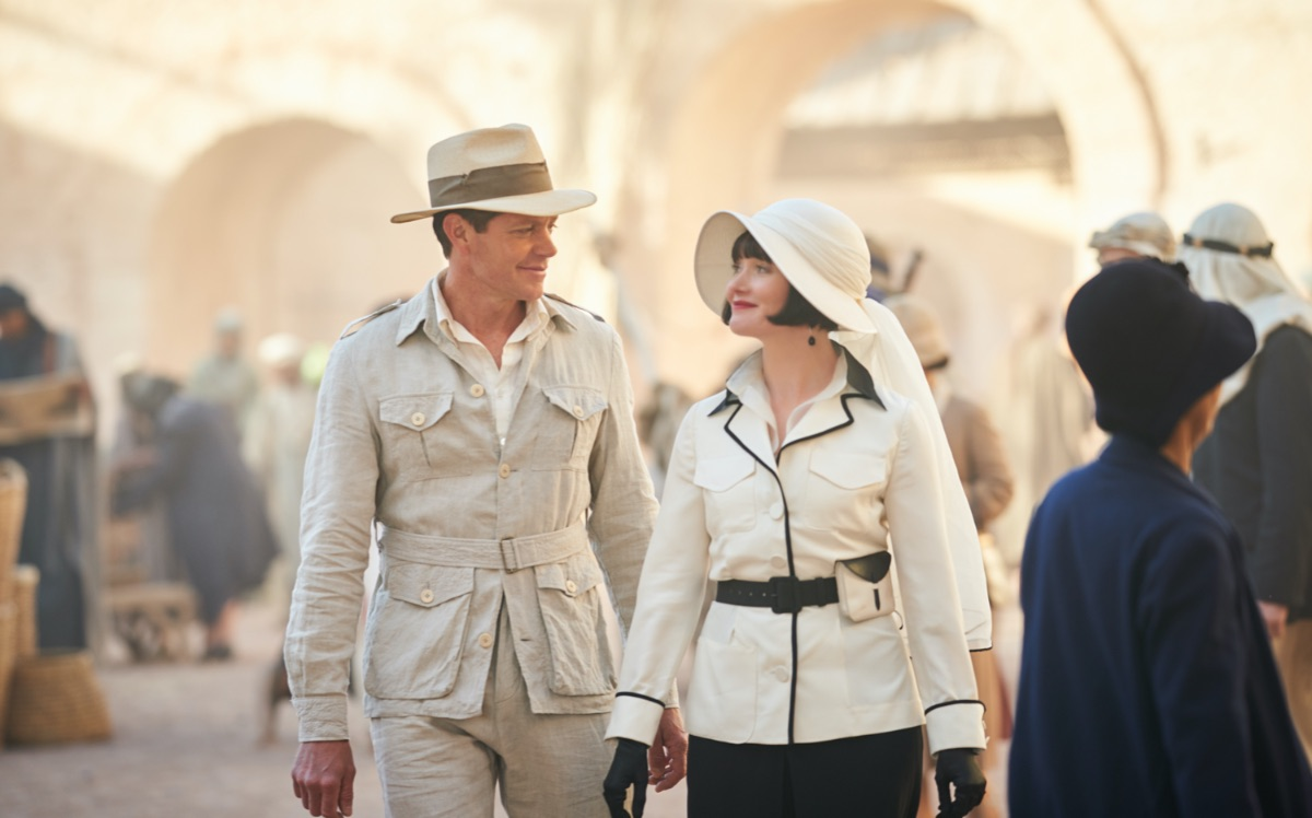Miss Fisher and the Crypt of Tears: Essie Davis as Phryne Fisher and Nathan Page as Jack Robinson. Image Copyright Every Cloud Productions and all3media international