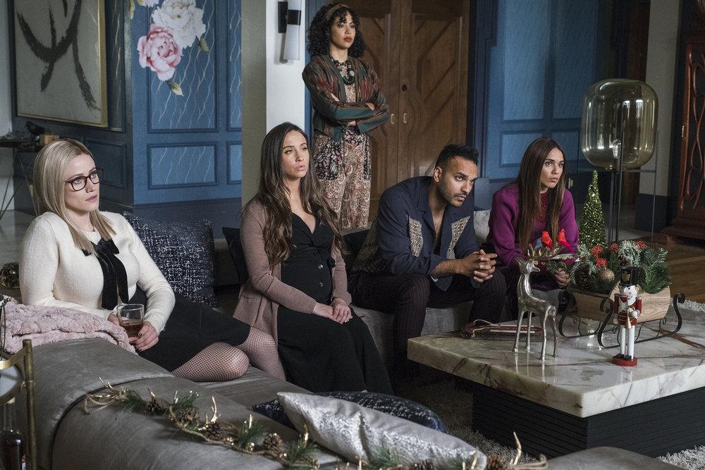 Still of Olivia Taylor Dudley, Stella Maeve, Riann Steele, Arjun Gupta and Summer Bishil in The Magicians