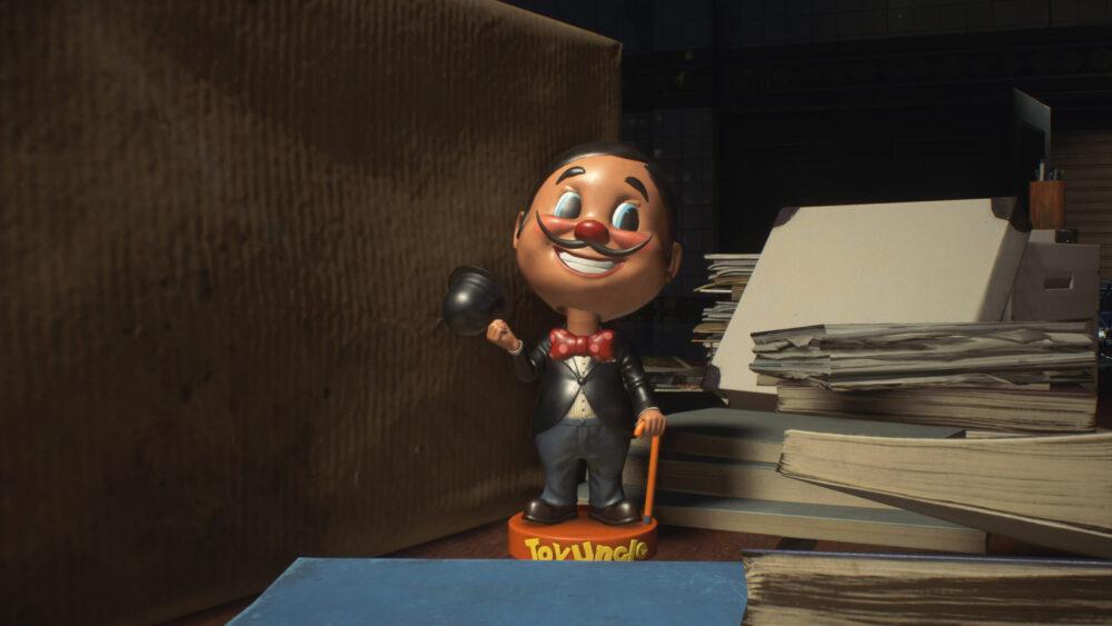 Mr Charlie statue in Resident Evil 3 Remake demo.