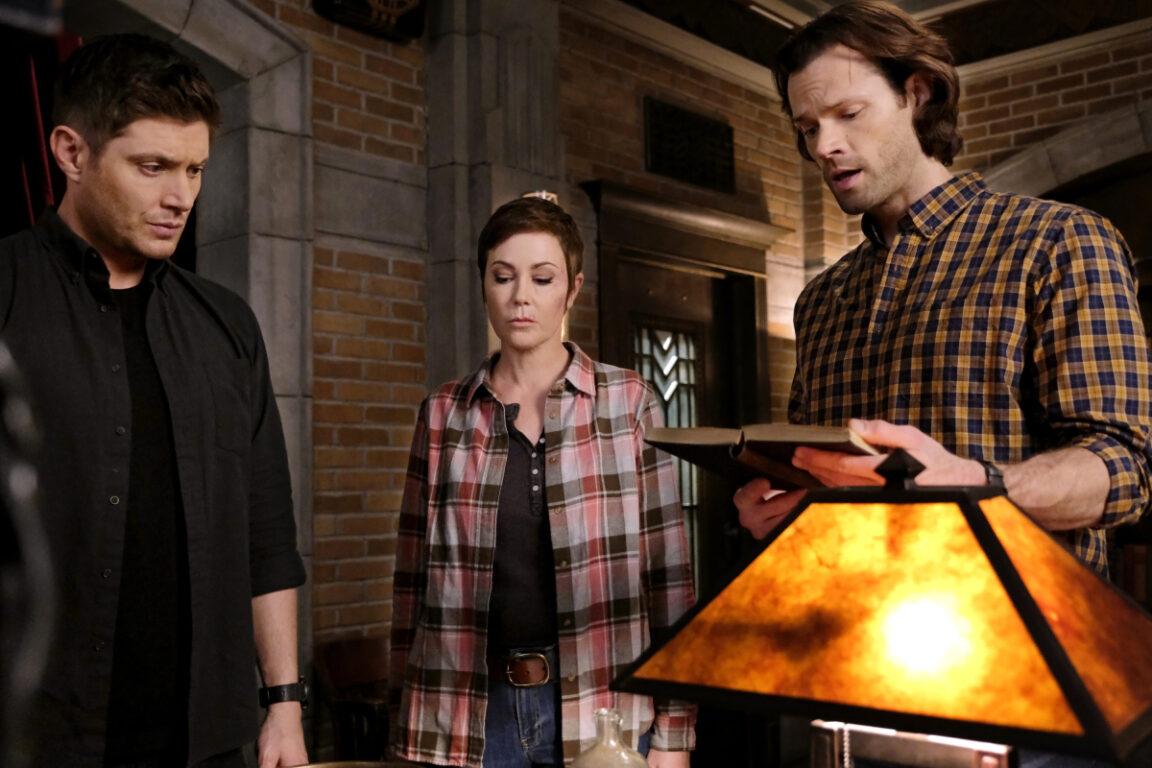 Sam puts up wards around the bunker on Supernatural