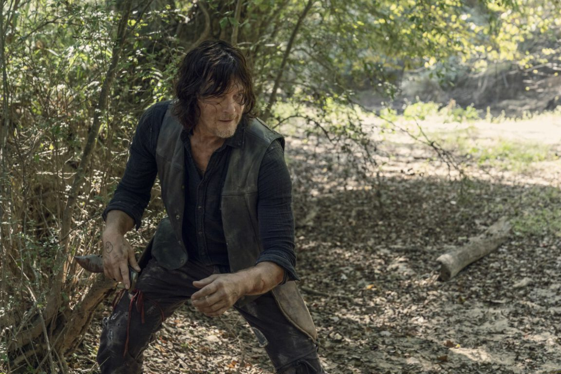 Norman faces off against the Whisperers on The Walking Dead