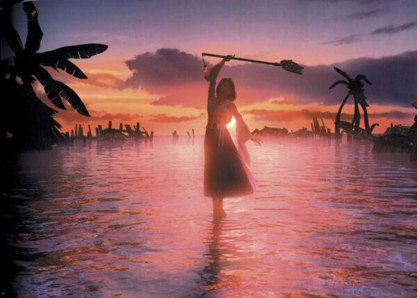 Yuna performing a sending in Final Fantasy X.