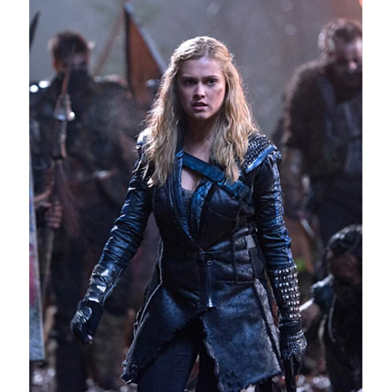 Clarke in a leather jacket on the 100