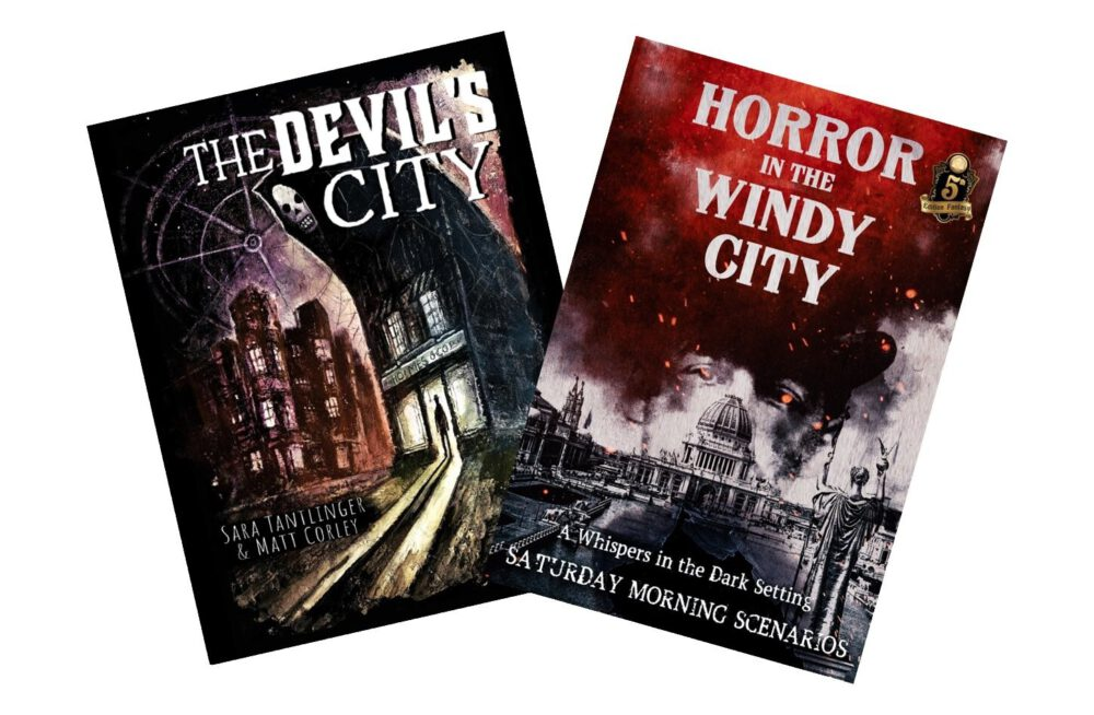 The Devil's City and Horror in the Windy City book covers.