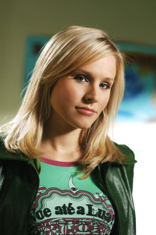 Veronica Mars in a leather jacket