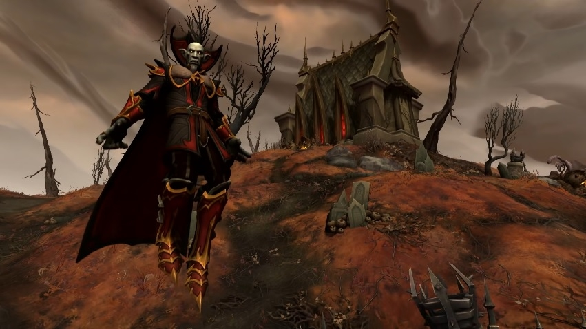 New zone Revendreth in Shadowlands from upcoming World of Warcraft: Shadowlands.