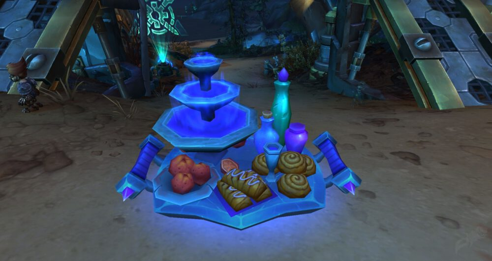 """A platter of food resulting from the spell """"Conjure Refreshment"""" in World of Warcraft."""