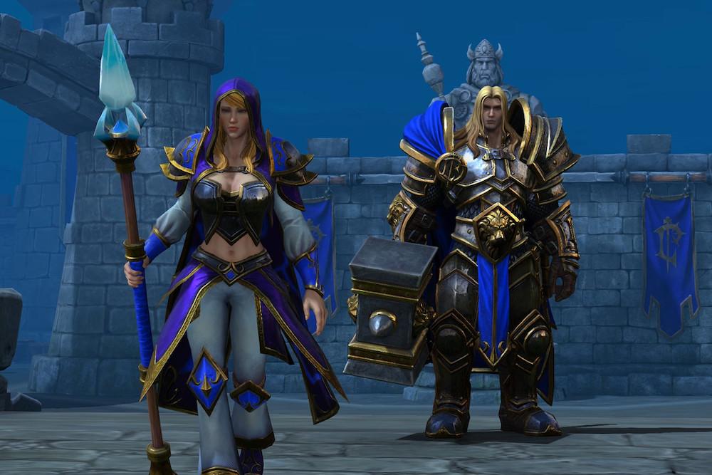 Jaina walking away from Arthas during Warcraft 3.