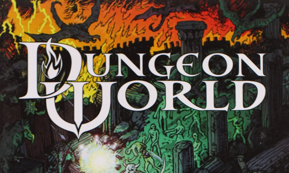 The cover of the Dungeon World RPG.