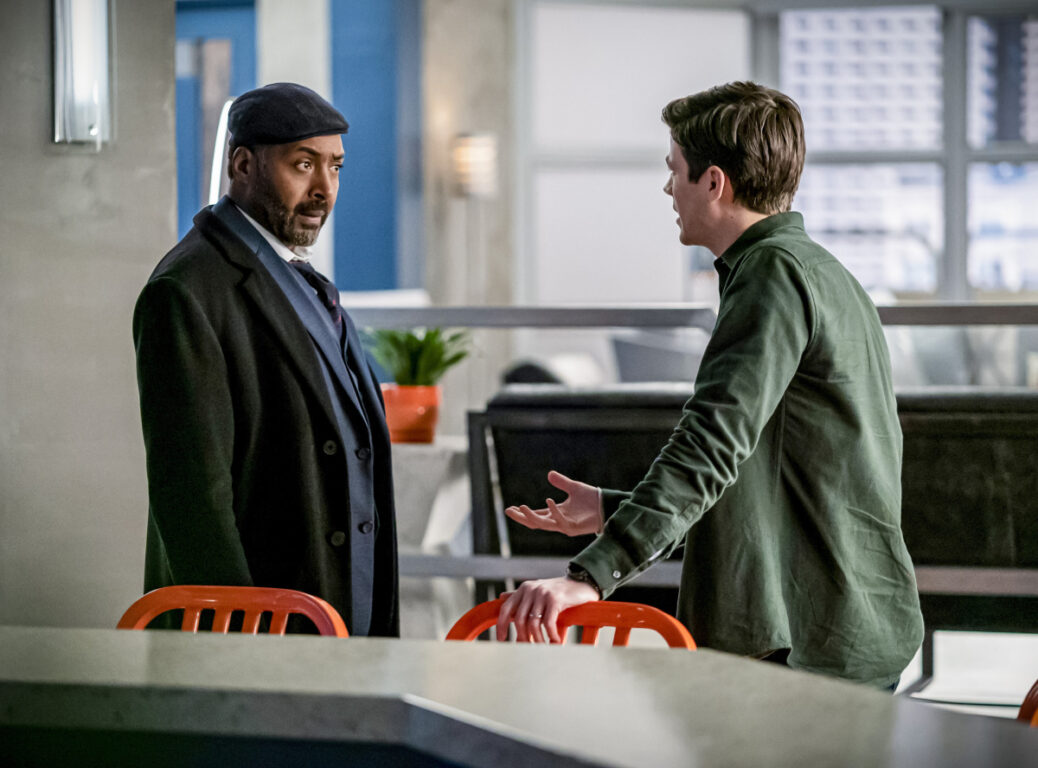 Joe and Barry disagree about why Joe needs protection on The Flash