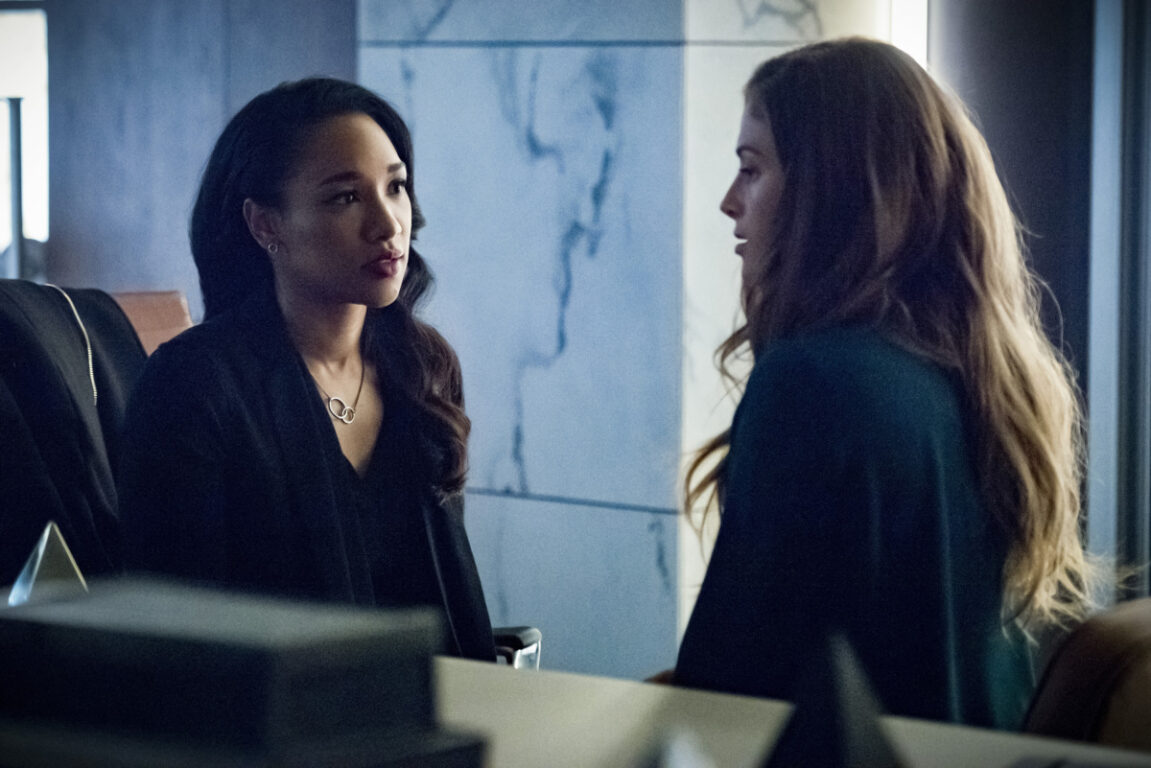 Candice Patton as Iris West - Allen and Efrat Dor as Eva in The Flash