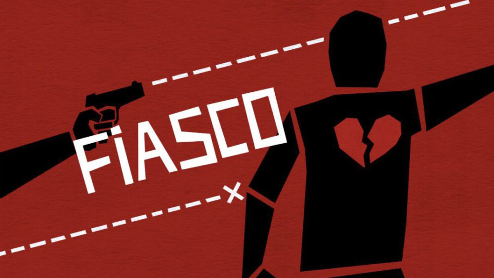 The cover of the Fiasco RPG