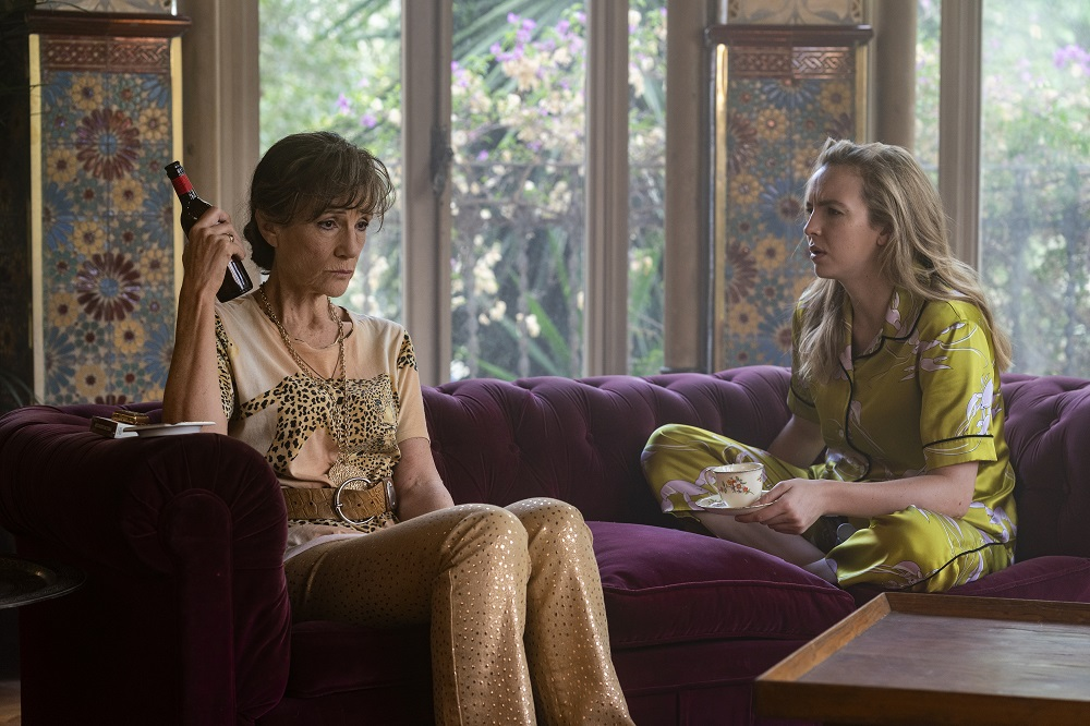 Still of Harriet Walter and Jodie Comer in Killing Eve