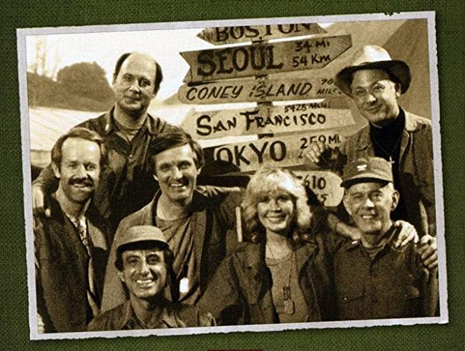 MASH DVD cover featuring the cast, (c) 20th Century Fox