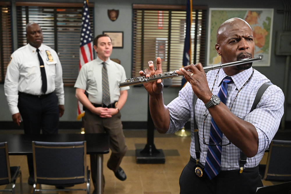 Still of Andre Braugher, Joe Lo Truglio and Terry Crews in Brooklyn Nine-Nine