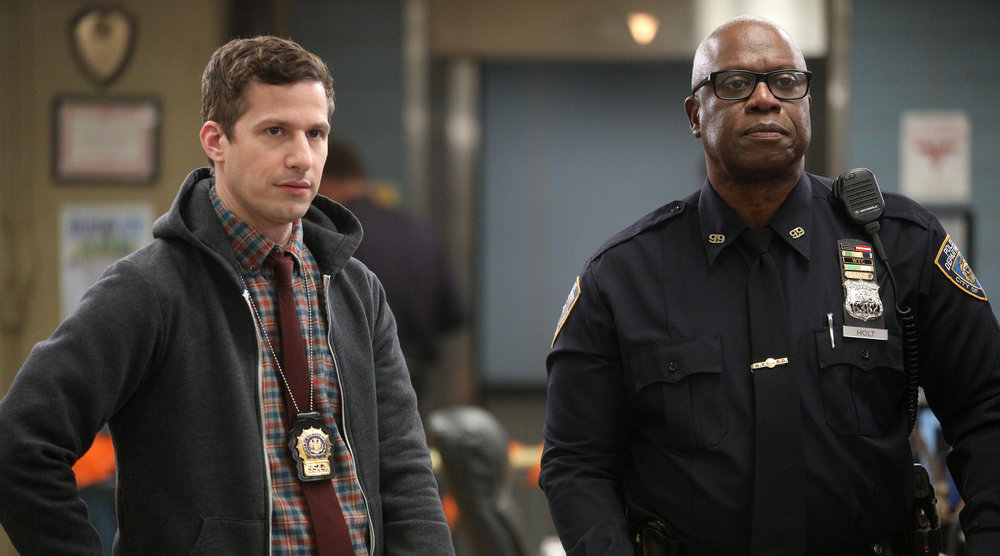 Still of Andy Samberg and Andre Braugher in Brooklyn Nine-Nine