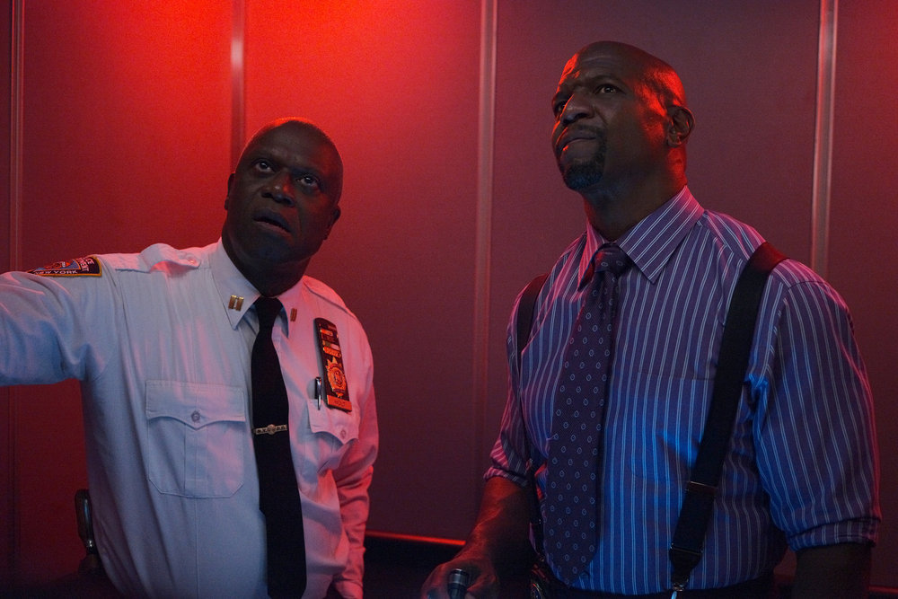 Still of Andre Braugher and Terry Crews in Brooklyn Nine-Nine