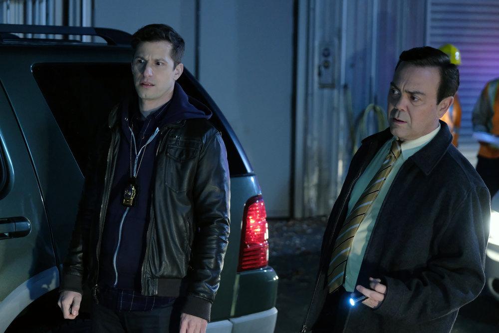 Still of Andy Samberg and Joe Lo Truglio in Brooklyn Nine-Nine