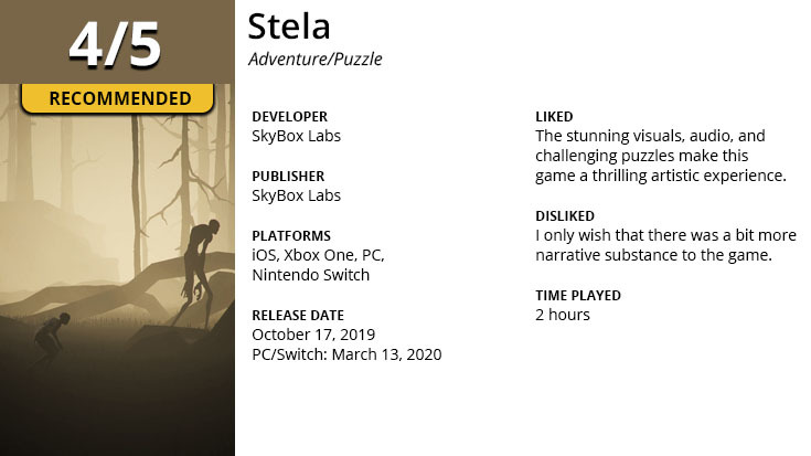 Stela Review Summary