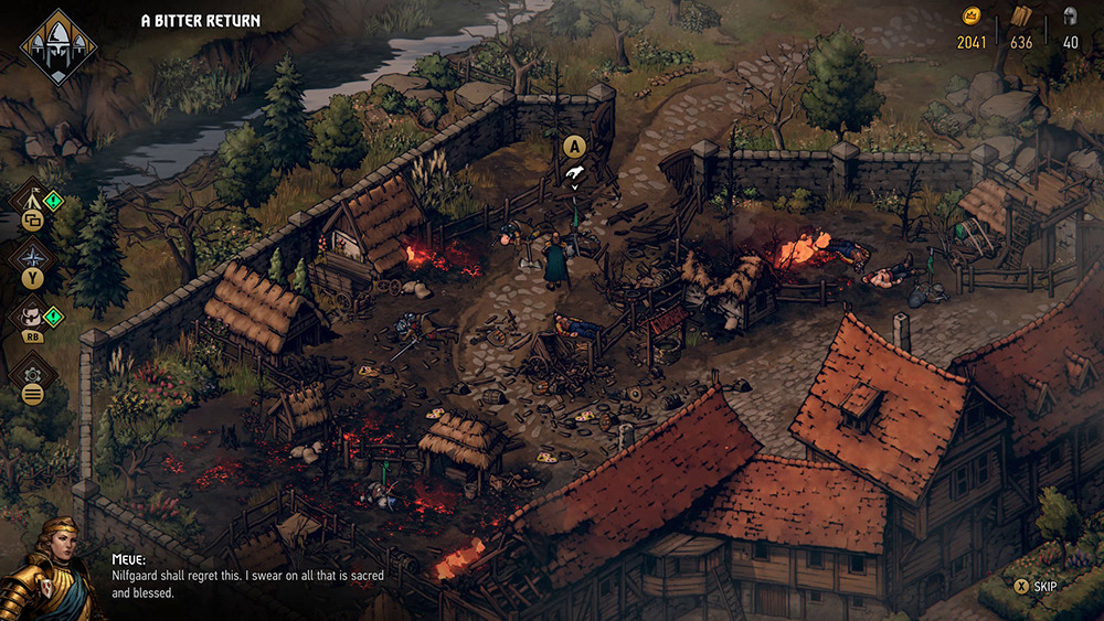 World map exploration takes players through towns to collect items.