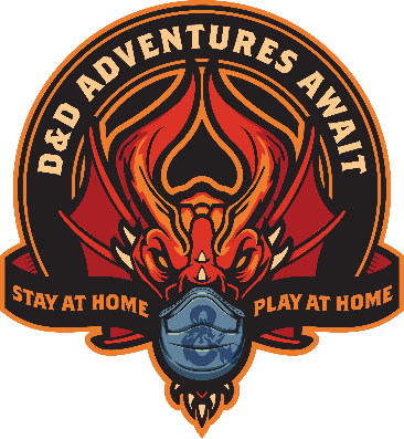 Wizards of the Coast Stay at Home Play At Home Logo