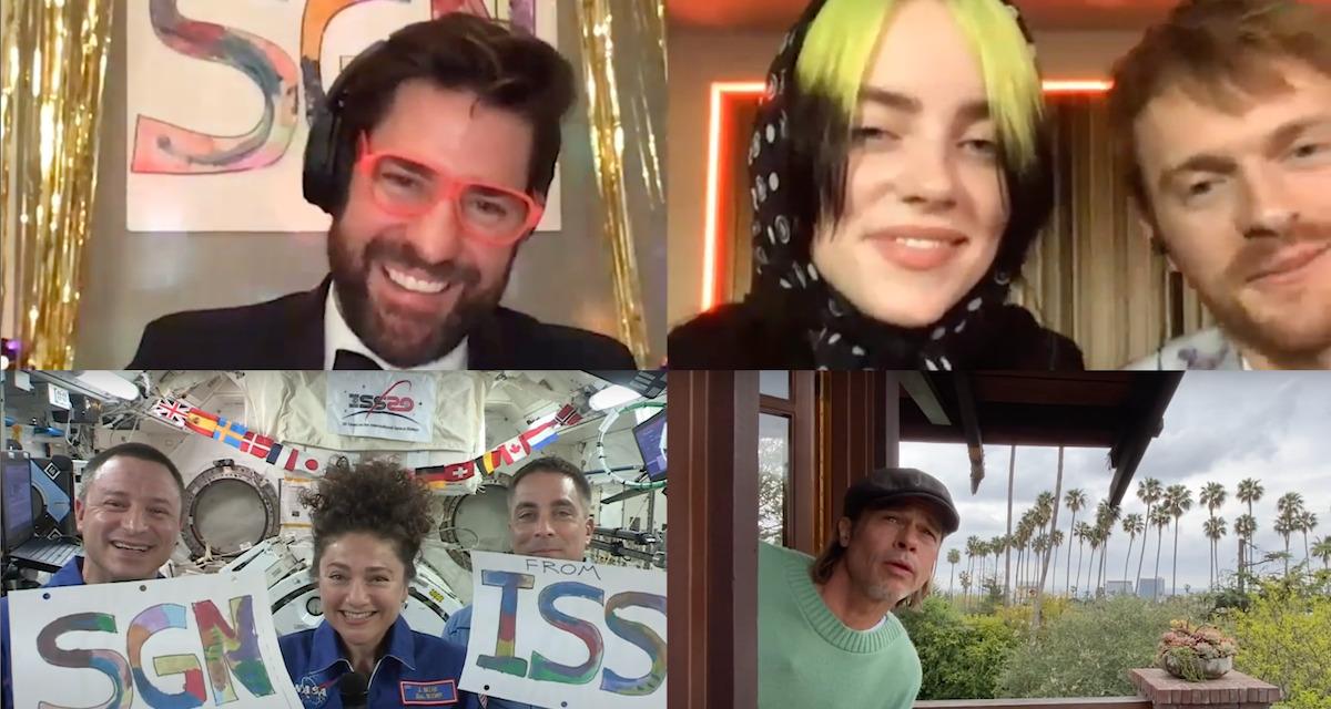 John Krasinski's New SOME GOOD NEWS Has ISS Astronauts, Brad Pitt, Billie Eilish and Rainn Wilson