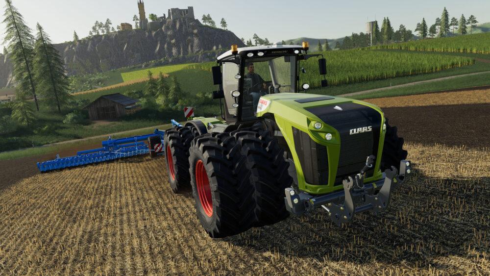 Farming Simulator 19 is a green thumb video game.