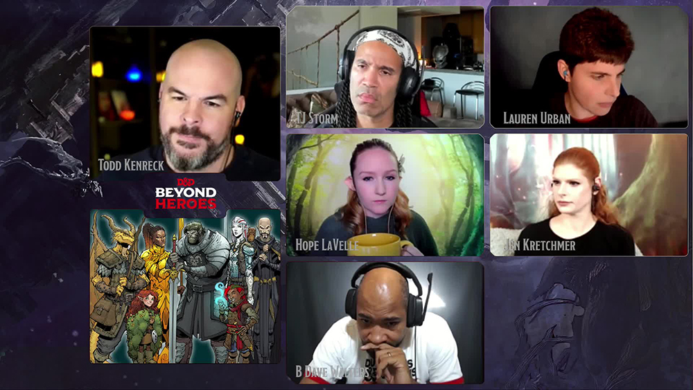 D&D Beyond Twitch live stream of Beyond Heroes.